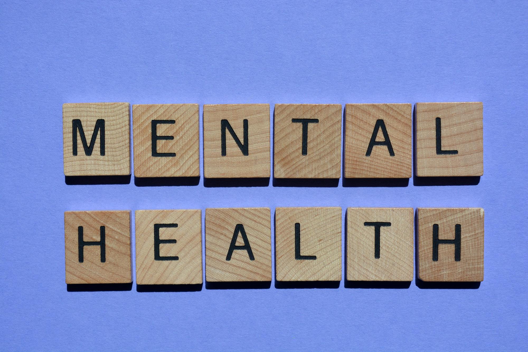 Mental Health, words as banner headline